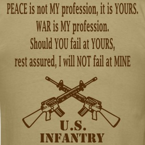 Mens's Brown Infantry T Shirt - Men's T-Shirt