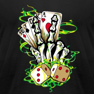 Gamblers hand T-Shirts - Men's T-Shirt by American Apparel