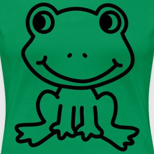 Happy Frog (vector - 1 color) Women's T-Shirts - Women's Premium T-Shirt