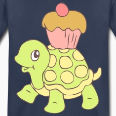 hp12026el04__turtle_with_cupcake Baby & Toddler Shirts