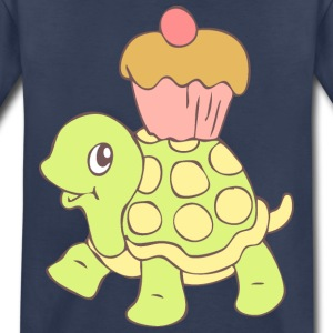 hp12026el04__turtle_with_cupcake Baby & Toddler Shirts - Toddler Premium T-Shirt