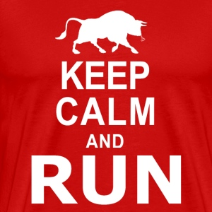 Keep Calm and RUN T-Shirts - Men's Premium T-Shirt