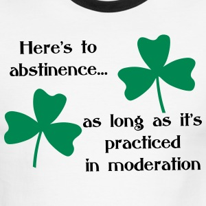 Abstinence Shamrock T-Shirts - Men's Ringer T-Shirt