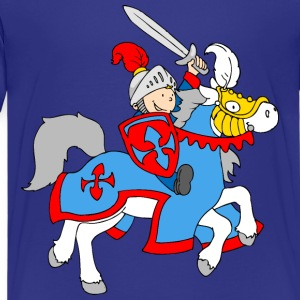 Boy Knight on a Horse Kids' Shirts - Kids' Premium T-Shirt