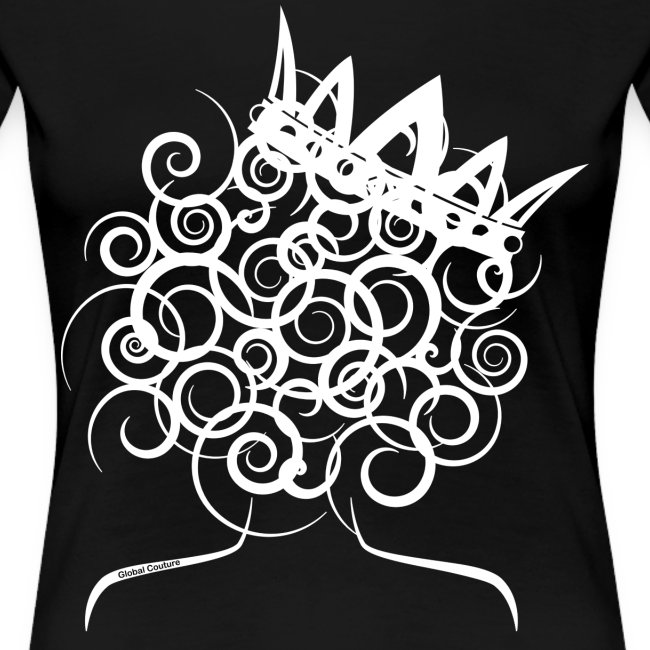 Curly Girl with Crown