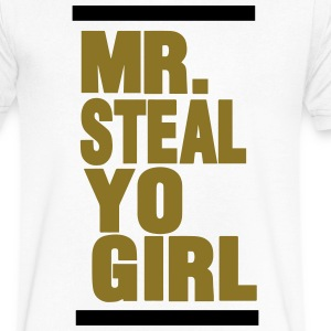 MR.STEAL YO GIRL - Men's V-Neck T-Shirt by Canvas