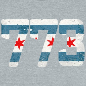 773 Chicago Flag shirt Clothing Apparel T-Shirts - Unisex Tri-Blend T-Shirt by American Apparel