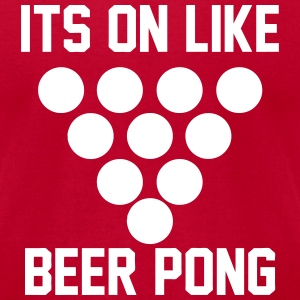Beer Pong T-Shirts - Men's T-Shirt by American Apparel