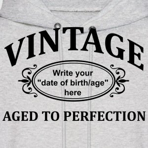 Vintage Custom Aged to Perfection Hoodies - Men's Hoodie