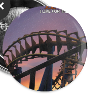 Design ~ Joe Vitale Jr I Live for the Weekend Tour Buttons