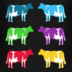 cow colored cows Kids' Shirts