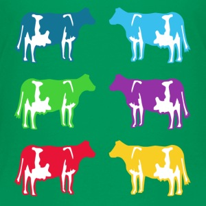 cow colored cows Kids' Shirts - Kids' Premium T-Shirt