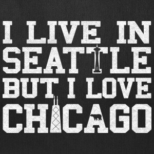 Live Seattle Love Chicago apparel clothing shirts Bags & backpacks - Tote Bag