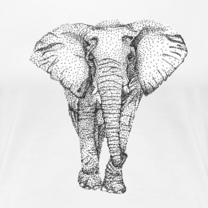 Elephant on Point - Women's Premium T-Shirt