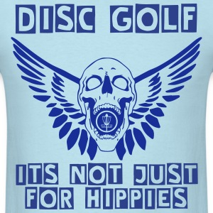 Flying Disc Golf Skull T-Shirts - Men's T-Shirt