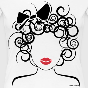 Global Couture logo_curly girl Women's T-Shirts - Women's Premium T-Shirt