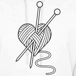 i love crochet knitting yarn heart wool Hoodies - Women's Hoodie