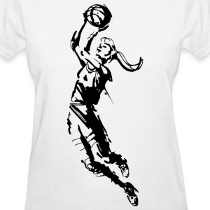 Girl's Basketball  T-Shirt - Women's T-Shirt