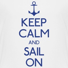 keep calm and sail on Kids' Shirts