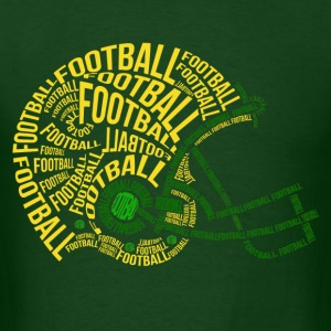 football_helmet_typography T-Shirts - Men's T-Shirt