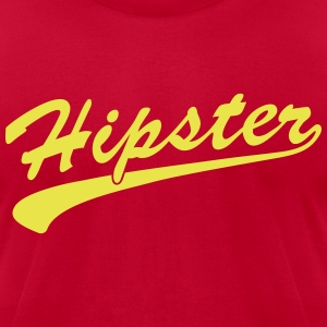 Hipster Scroll T-Shirts - Men's T-Shirt by American Apparel