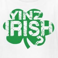 Design ~ Yinz Irish? Kids T-shirt - Green Cutout