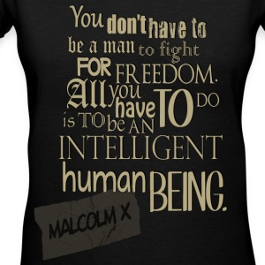 Be an intelligent human being - Women's V-Neck T-Shirt