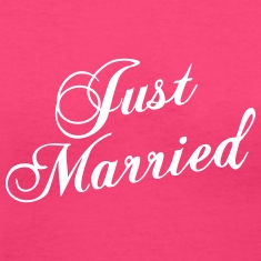 Just Married_V8 T-shirts