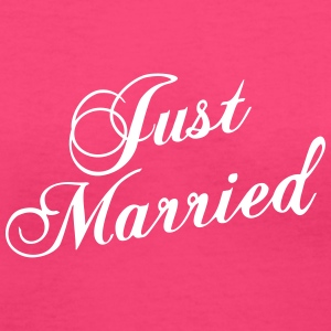 Just Married_V8 Women's T-Shirts - Women's V-Neck T-Shirt