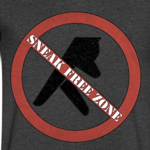 SNEAKFREEZONE.png T-Shirts - Men's V-Neck T-Shirt by Canvas