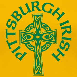Pittsburgh Irish Celtic Cross apparel Clothing Women's T-Shirts - Women's Premium T-Shirt