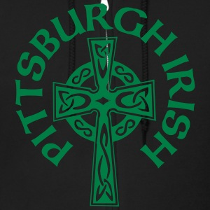 Pittsburgh Irish Celtic Cross apparel Clothing Zip Hoodies & Jackets - Men's Zip Hoodie