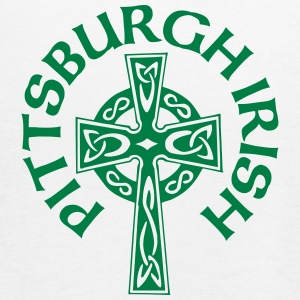 Pittsburgh Irish Celtic Cross apparel Clothing Tanks - Women's Flowy Tank Top by Bella