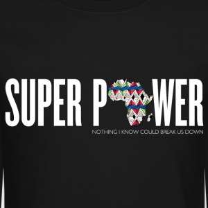 African Super Power Crew Neck - Crewneck Sweatshirt