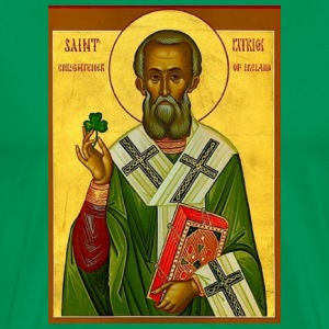 St Patrick Orthodx Icon- Men's Tee - Men's Premium T-Shirt