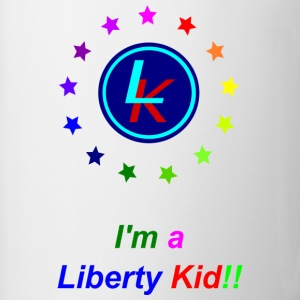 Libery Kid logo with rainbow stars Bottles & Mugs - Contrast Coffee Mug