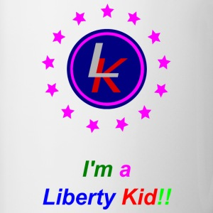 Liberty Kid logo pink stars Bottles & Mugs - Contrast Coffee Mug