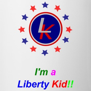 Liberty Kid logo with red, blue stars Bottles & Mugs - Contrast Coffee Mug