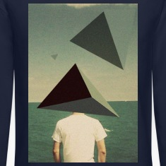 Triangles on the Beach Long Sleeve Shirts