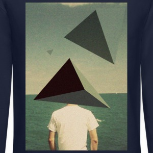 Triangles on the Beach Long Sleeve Shirts - Crewneck Sweatshirt