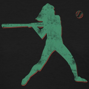 Girl Softball Player Retro Abstract  T-Shirt - Women's T-Shirt