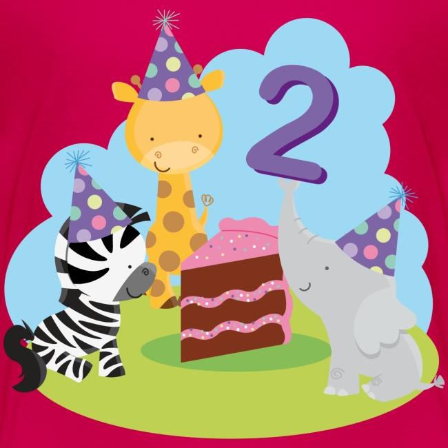 2nd Birthday Kids T Shirt Animal Party
