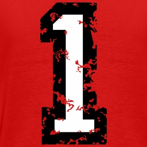 Number One T-Shirt No.1 (Men Red) Back - Men's Premium T-Shirt