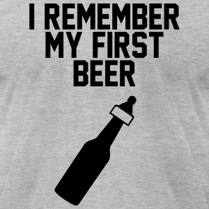 First Beer T-Shirts - Men's T-Shirt by American Apparel