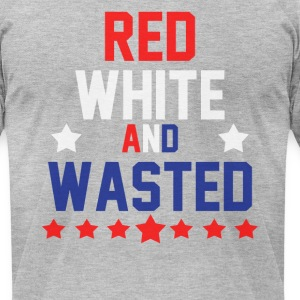 Red White & Wasted T-Shirts - Men's T-Shirt by American Apparel