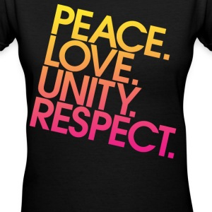 Peace Love Unity Respect (PLUR) Women's T-Shirts - Women's V-Neck T-Shirt