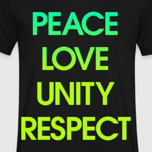 Peace Love Unity Respect T-Shirts - Men's V-Neck T-Shirt by Canvas