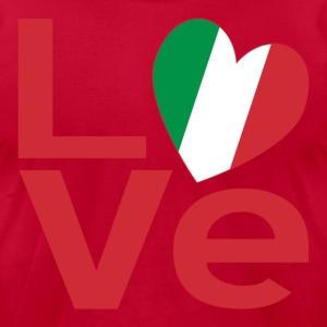 Italian LOVE in Red - Men's T-Shirt by American Apparel