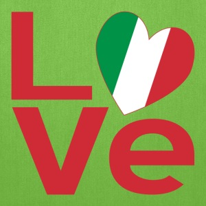 Italian LOVE in Red - Tote Bag
