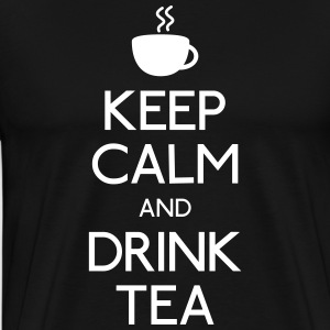 keep calm drink tea T-Shirts - Men's Premium T-Shirt